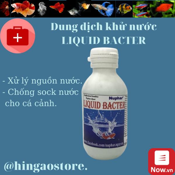[HCM]Dung Dịch Liquid Bacter xử lý nước chống sock cho cá cảnh - NUPHAR Sản phẩm giúp cá khỏe | Hingaostore.| Hingaostore.