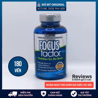 Viên Uống Bổ Não Focus Factor 180 Viên Tăng Cường Trí Não Và Khả Năng Tập Trung Giảm Căng Thẳng, Mệt Mỏi Của Mỹ thumbnail