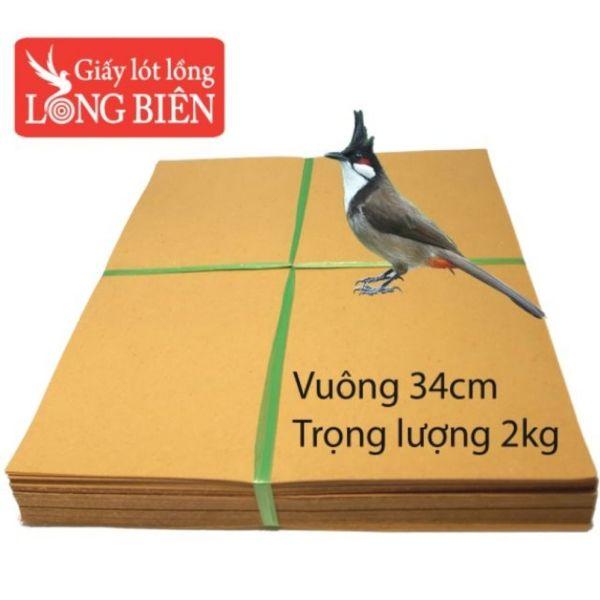 Giấy lót lồng chào mào 17 nan vuông kích thước 34cm, trọng lượng 2kg