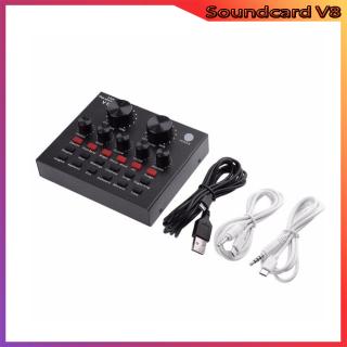 Sound Card V8 Thu Âm Mini Nhỏ Gọn, Tích Hợp Bluetooth, Pin 10H, Thu Âm Hỗ Trợ 4 Cơ Chế Hoạt Động Karaoke, MC , Video , Thu Âm Tương Thích Nhiều Thiết Bị , PC, Laptop , Smartphone, Máy Tính Bảng Giúp Live Stream Mọi Lúc, Bảo Hàng 12 T thumbnail