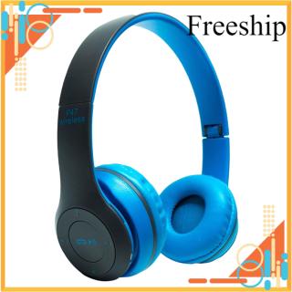 [Freeship Max] Tai nghe chụp tai cao cấp có khe thẻ nhớ Bluetooth P47 (Đen Đỏ) 1000002735 có dây aux kết nối điện thoại máy tính laptop thumbnail