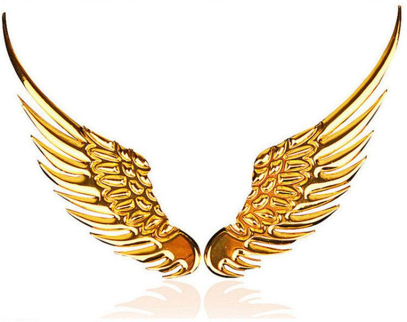 Đôi cánh thiên thần 3D gắn logo xe hơi trang trí