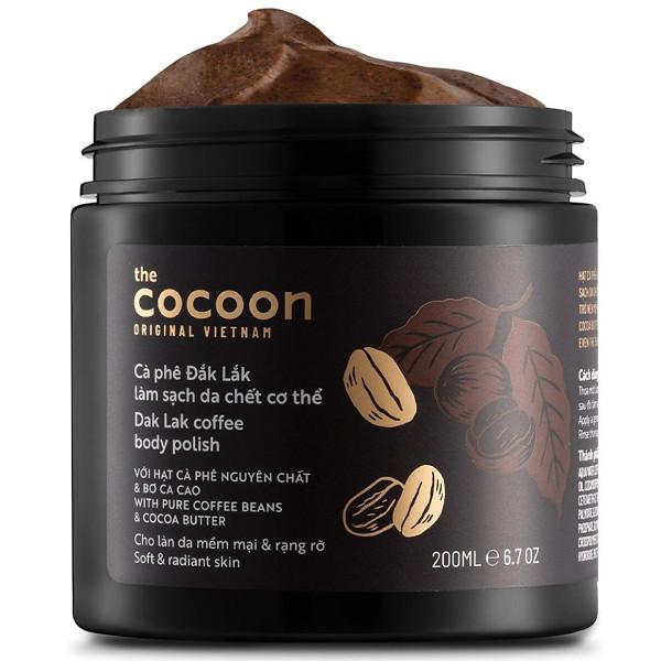 [ GIẢM GIÁ SỐC] TẨY TẾ BẢO CHẾT COCOON CÀ PHÊ, Tẩy da chết cơ thể Cocoon Cà phê Đắk Lắk thơm thuần tự nhiên, TẨY TẾ BẢO CHẾT HÓT
