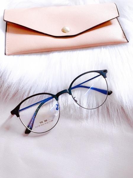 Giá bán Gọng kính cận nửa viền TR90 cao cấp (có cắt kính cận )