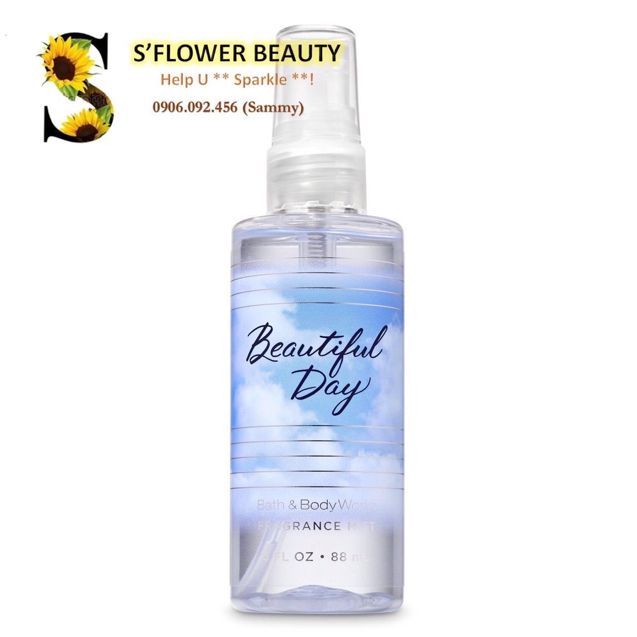 [Auth - Size Mini] Xịt Thơm Nước Hoa Toàn Thân Bath & Body Works Fine Fragrance Mist (88ml) - Beautiful Day (2019)