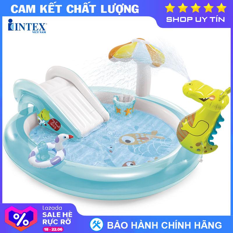 Bể Bơi Phao Cầu Trượt Cá Sấu Chúa Intex 57165 - Hồ Bơi Cho Bé Mini, Bể Bơi Phao Trẻ Em, Bể Bơi Cho Bé, Bể Bơi Ngoài Trời Có Giá Tốt