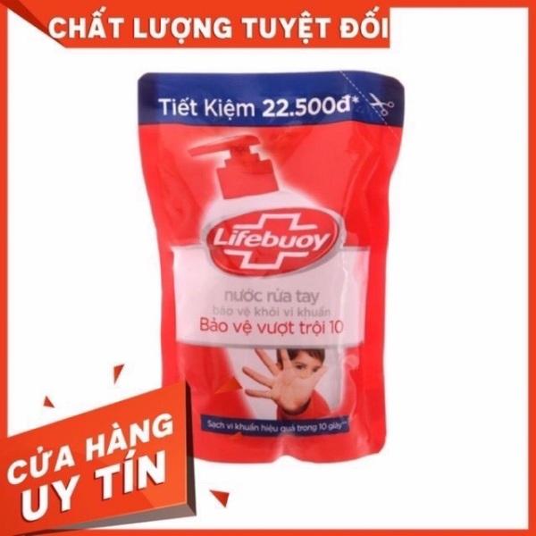 Nước rửa tay Lifebuoy Bảo vệ khỏi vi khuẩn 450gr (Túi) đỏ