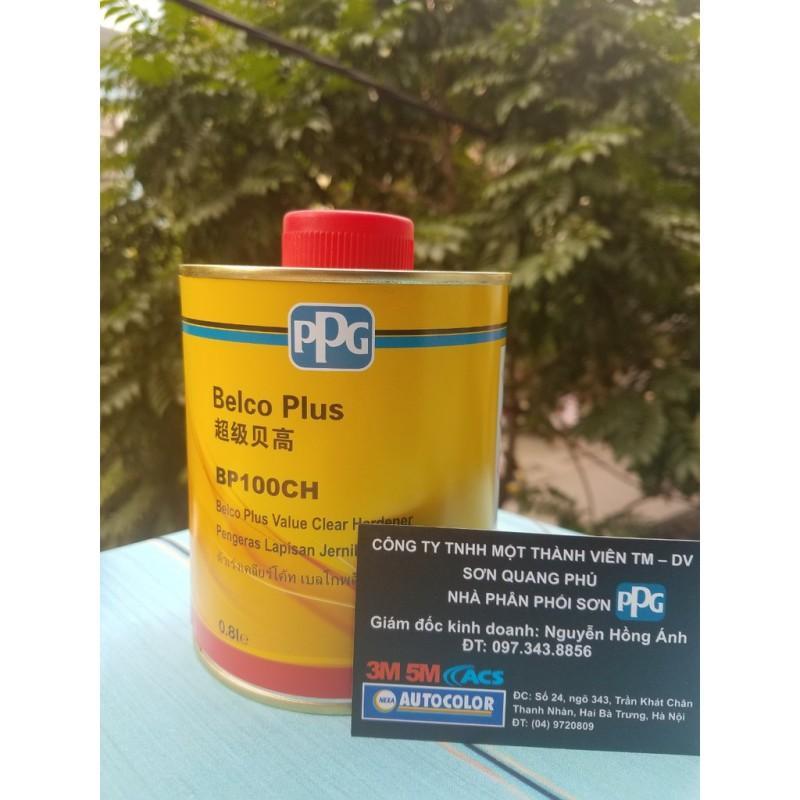 1 Bộ bóng đầy đủ dầu bóng Belco giá rẻ BP100C 3.2L và đóng rắn BP100CH 0.8L