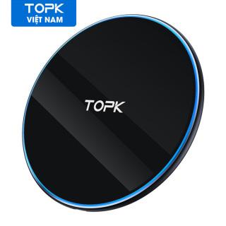 Sạc không dây TOPK B02W 10W, sạc không dây có đèn LED cho Samsung nhanh S10 S9 S8 Xiaomi mi9 - phân phối bởi TOPK Việt Nam thumbnail