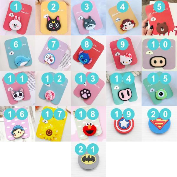 Giá đỡ điện thoại POP kiêm quấn tai nghe đa năng tiện lợi nhiều mẫu hình hoạt hình dễ thương siêu chắc chắn tránh rơi điện thoại khi cầm ( Có thể chọn mẫu )