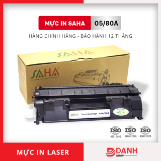 Hộp mực in SAHA 05A 80A - HP Laser Jet P 2035, 2055 M401, M425 - Canon LBP 6300, 6400, 6550, 6650, 6680 MF 5840, 5870... Bảo hành 12 tháng ( FULL BOX) Mực máy in Laser thumbnail