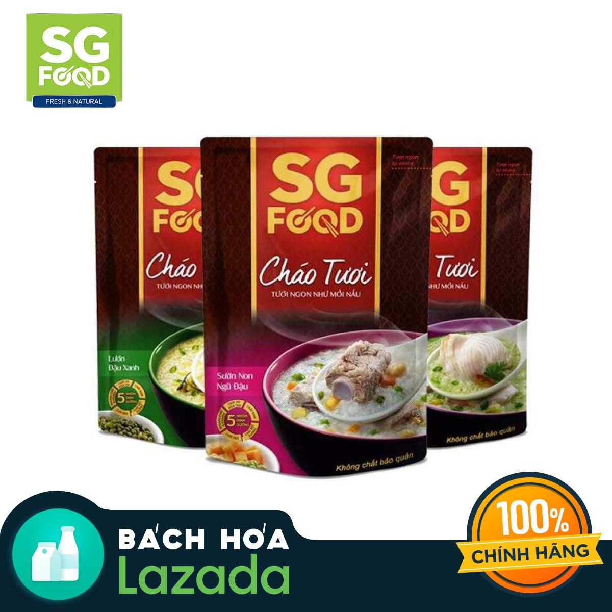 Voucher Khuyến Mại Combo 3 Gói Cháo Tươi Sài Gòn Food 270g (vị Lươn, Cá Lóc, Sườn)