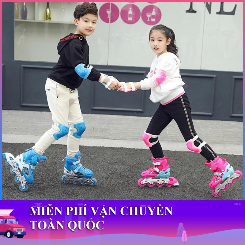 Mua Giày trượt patin trẻ em cao cấp + Tặng kèm đầy đủ phụ kiện (mũ bảo hiểm, bảo vệ tay chân, đồ trang trí) - Miễn phí vận chuyển