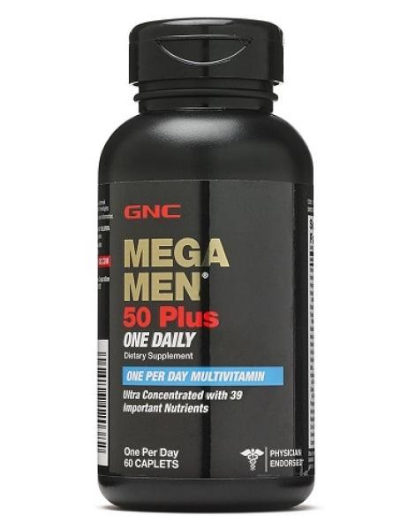 MEGA MEN 50 PLUS ONE DAILY MULTI chai 60 viên - Thực phẩm bảo vệ sức khỏe nam giới từ 50 tuổi