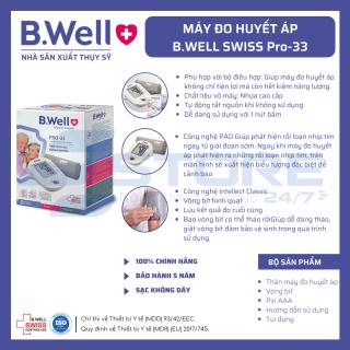 Máy đo huyết áp bắp tay B.Well Swiss PRO-33 - Hàng Thụy Sĩ, Chuẩn Châu Âu thumbnail
