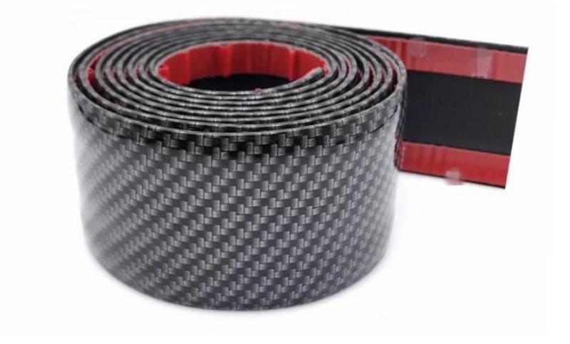 Miếng dán 3D carbon bảo vệ xe ô tô trang trí xe rộng 5 cm dài 2.5 mét