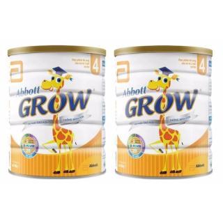 Bộ 2 Lon Sữa Bột Abbott Grow 4 hương vani 900g thumbnail