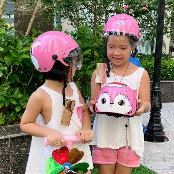 Giá bán Mũ Bảo Hiểm Trẻ Em Có Kính Siêu Nhẹ Asia MT-103KS Tem Mới – Size Lớn (cho bé 4-6 tuổi)