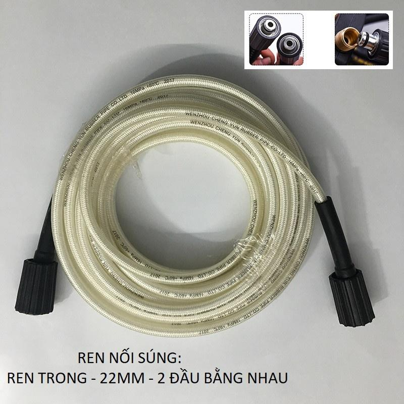 Ống dây rửa xe 20M cho máy bơm xịt rửa áp lực cao -Ren trong 22mm