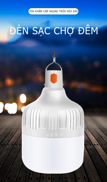 Đèn LED tích điện USB Không Dây, Led Sạc Bóng Đèn Siêu Sáng 30W/50W/80W/100W (Trắng