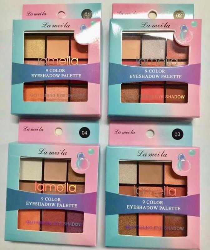 Bảng phấn mắt 9 màu Lameila Glittering Eye Shadow hàng nội địa Trung giá rẻ