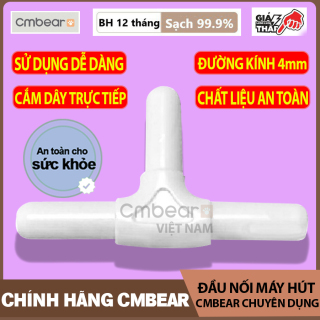 Đầu Nối Máy Hút Sữa CMBEAR chuyên dụng CHÍNH HÃNG - Đầu nối nâng cấp máy hút điện đơn lên đôi - Đầu nối chữ T cho máy hút sữa điện - CMB08 thumbnail