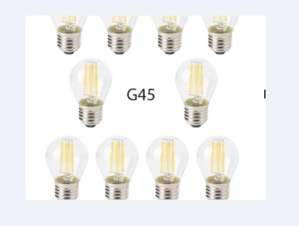 Bảng giá Combo 10 bóng đèn led tròn filament 4w g45 thủy tinh