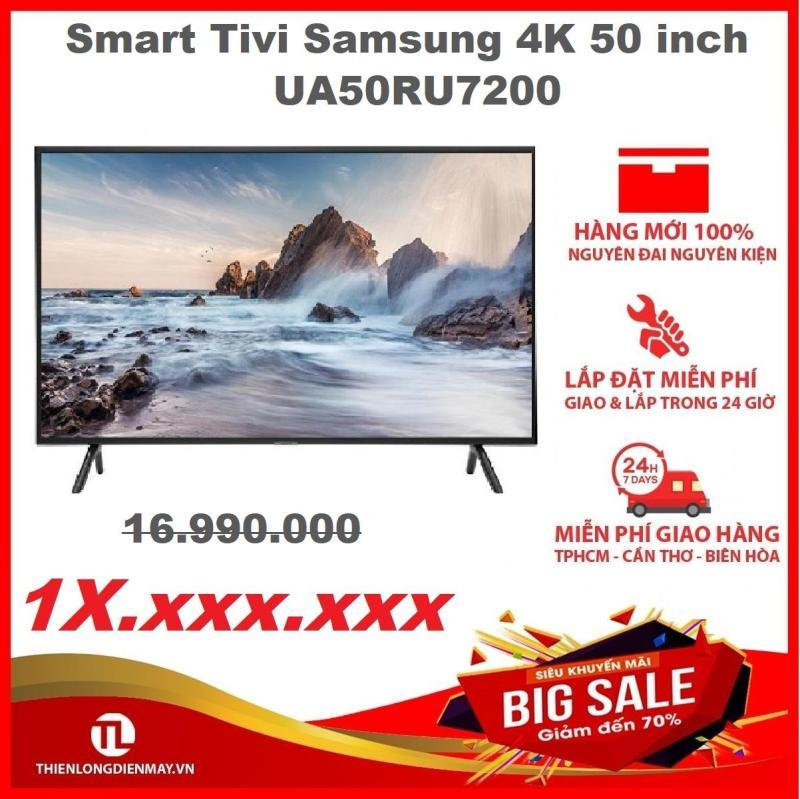 Smart Tivi Samsung 4K 50 inch UA50RU7200 - Công nghệ Purcolor cho màu sắc rực rỡ, sống động, âm thanh đa chiều, lan tỏa nhờ công nghệ Dolby Digital Plus với công suất 20W - Bảo hành 2 năm chính hãng