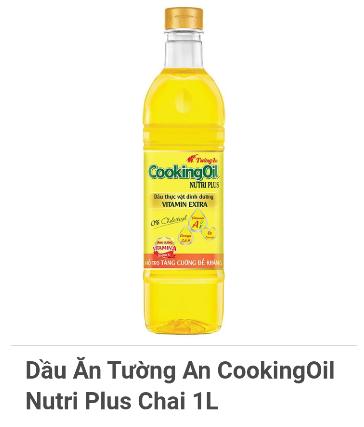 Dầu ăn Tường An Cooking oil chai 1L