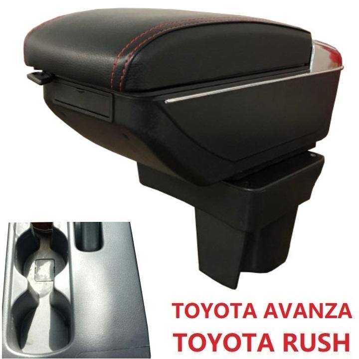 Hộp tỳ tay ô tô, xe hơi tích hợp 7 cổng USB dùng cho xe Toyota Rush và Toyota Avanza ( Màu đen chỉ đỏ) 8
