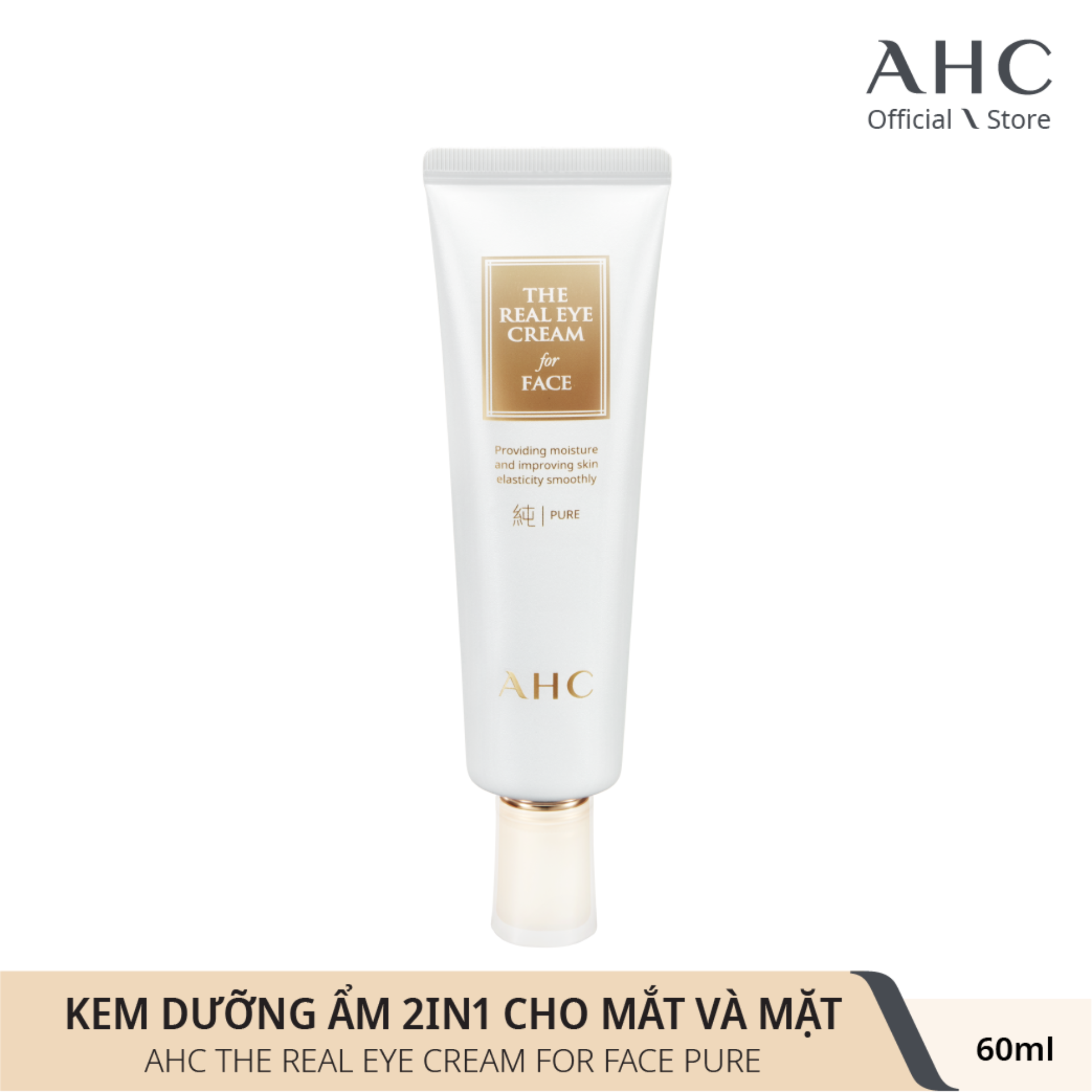 Kem Dưỡng Mắt và Mặt 2in1 AHC The Real Eye Cream For Face Pure (60ml)