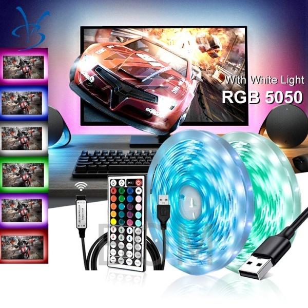Bảng giá Dây Đèn Led Bluetooth Đèn Hậu12V 5m đổi nhiều màu (RGB)Linh Hoạt Đèn Trang Trí Đêm Trang Trí Giáng Sinh Cho Phòng Ngủ, Với Bộ Điều Khiển 44 Phím Băng Dính Nền TV USB Đi-ốt ĐènNgủ LED