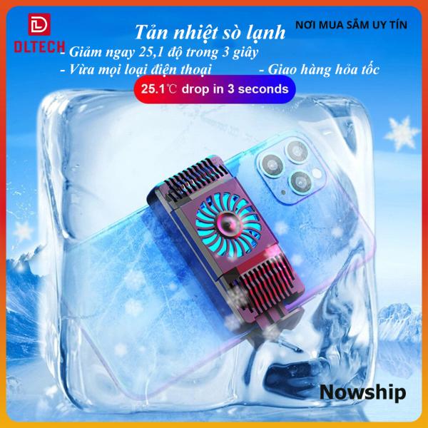 Quạt tản nhiệt điện thoại AH101 tản nhiệt sò lạnh giảm ngay 50 độ chơi game PUBG, Liên Quân… làm mát nhanh nhỏ gọn cho điện thoại