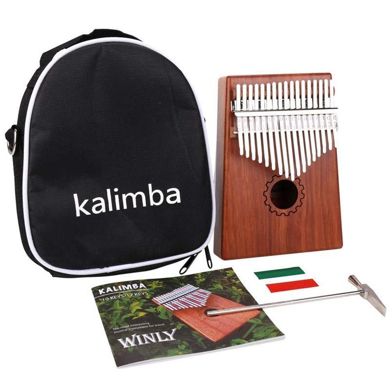 Kalimba Thumb Piano 17 Keys With Mahogany Wooden With Bag, Hammer And Music Book, Perfect For Music Lover, Beginners, Children Malaysia