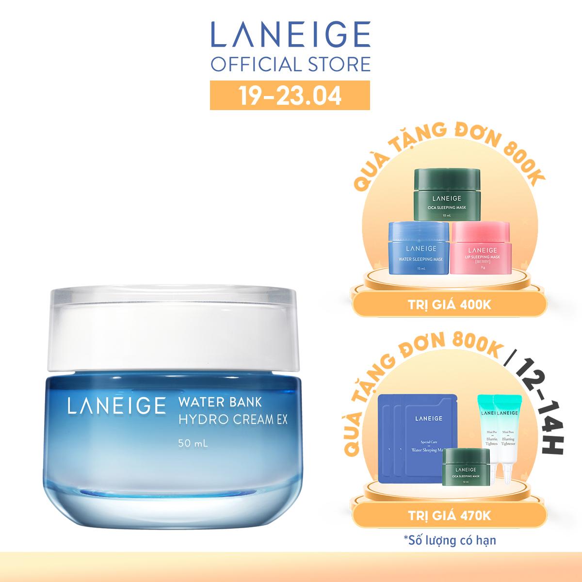 Kem dưỡng ẩm cho da dầu Laneige Water Bank Hydro Cream Ex 50ML - chính hãng