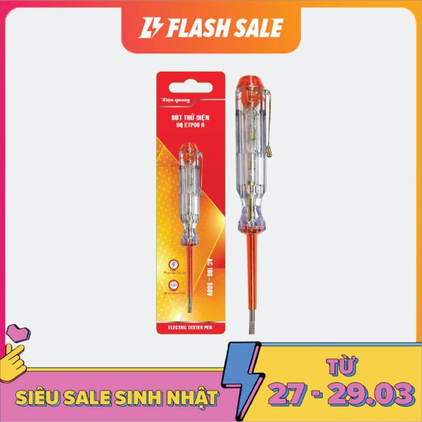 Bút thử điện Điện Quang ĐQ ETP06 R (Đầu vít dẹp,140 mm, màu đỏ)