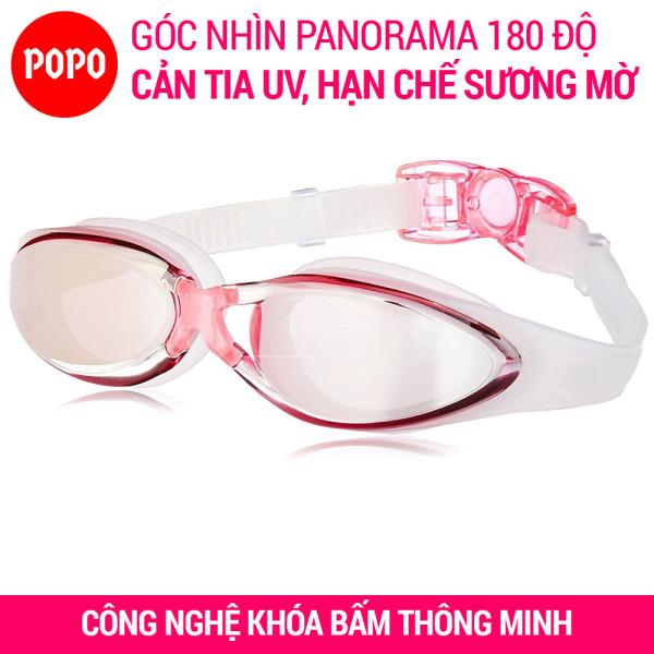 Kính bơi người lớn chính hãng POPO G300 kính bơi tráng gương chính hãng cho người lớn, trẻ em trên 8 tuổi mắt kính bơi cản tia UV hạn chế sương mờ