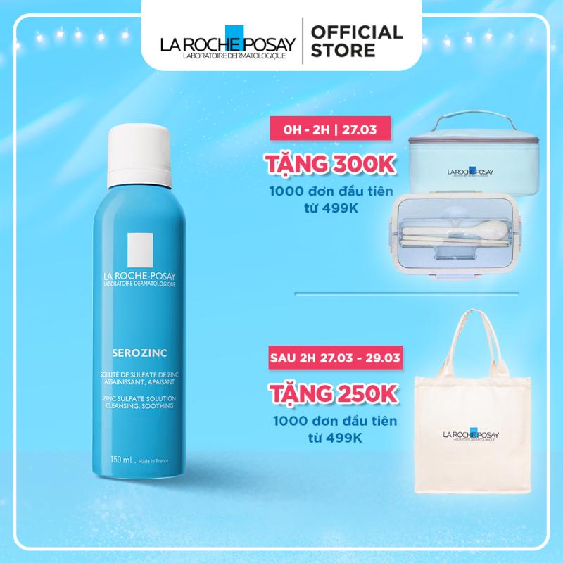 Xịt khoáng giúp làm sạch & làm dịu cho da dầu mụn La Roche Posay Serozinc 150ML giá rẻ