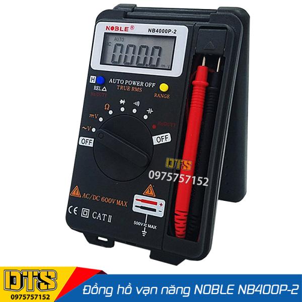 Đồng hồ đo vạn năng Noble NB 4000P-2, tự động chuyển thang đo, bỏ túi tiện dụng, đo điện trở, điện áp, dòng AC, DC, Tụ điện, tần số Hz, loa to tiện lợi