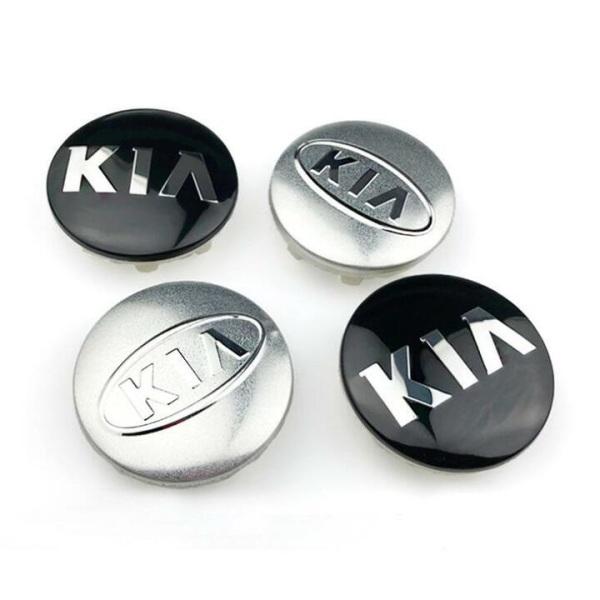 1 chiếc ốp lazang, logo chụp mâm bánh xe ô tô, xe hơi nhãn hiệu Ki.a đường kính 58mm