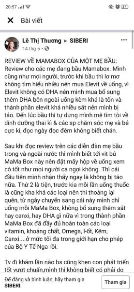 MAMA BOX - VITAMIN CHO MẸ BẦU, SAU SINH VÀ CHO CON BÚ .