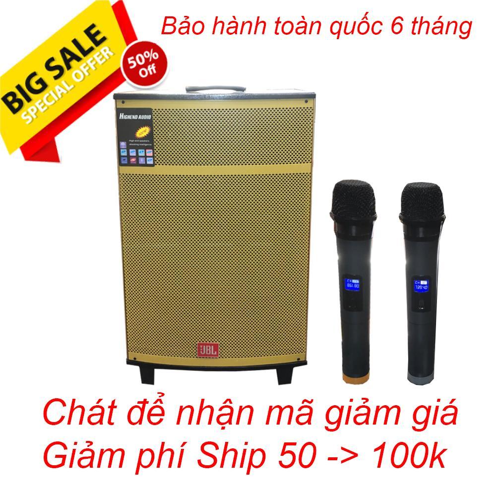 Hot Deal Khi Mua Loa Kéo JBL Bass 40 Vàng Gold Công Suất Khủng, Loa Di động Cao Cấp Giá Rẻ, Tặng 2 Micro Không Dây