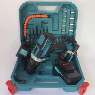 [HCM]Máy khoan pin 36V Makita 3 chức năng có búa - Tặng kèm 24 chi tiết gồm các mũi khoan + Mũi bắt vít bảo hành 12 tháng thumbnail