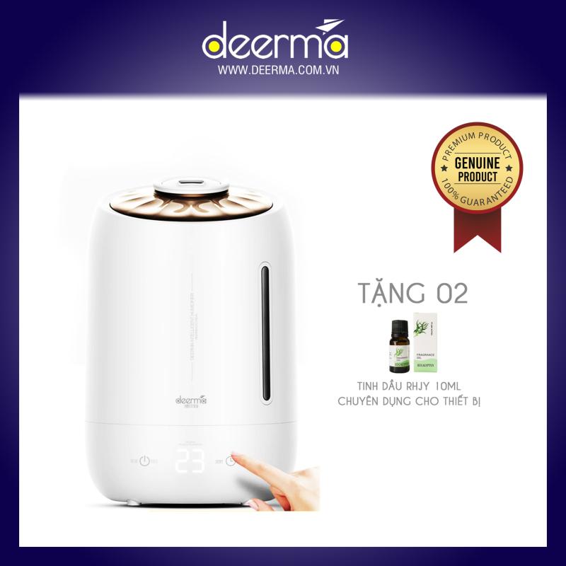 (Tặng 02 tinh dầu Rhjy 10ml) Máy tạo ẩm không khí siêu âm & khuêch tán tinh dầu cao cấp - Deerma F600
