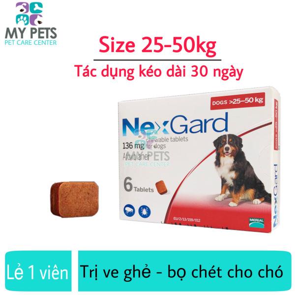 NEXGARD viên nhai ve ghẻ, bọ chét cho chó - Lẻ 1 viên (size 25-50kg. no box)