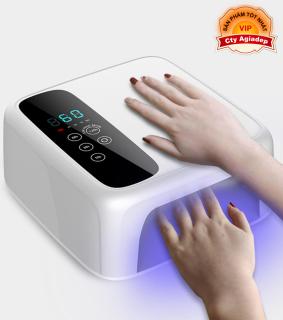 Máy hơ gel sơn móng tay Loại Sạc pin được - Hàng Cao cấp xịn đẹp AM602 - Máy hơ làm khô nail thumbnail