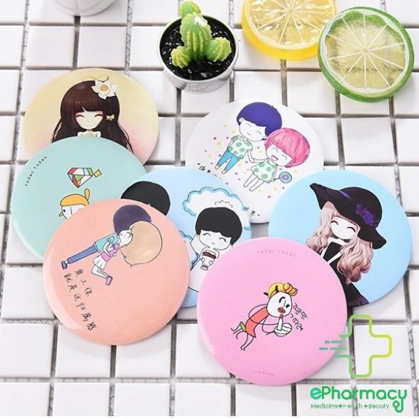 Gương mini dễ thương Hàn Quốc - Gương trang điểm cầm tay nhỏ 7cm