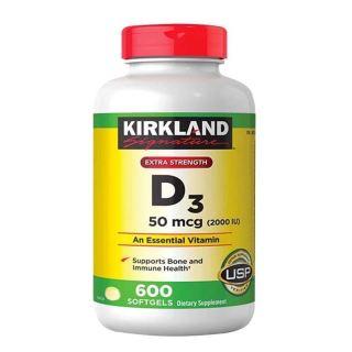 DATE 2024 -Kirkland Viên Uống Bổ Sung Vitamin D3 2000IU 600 Viên thumbnail