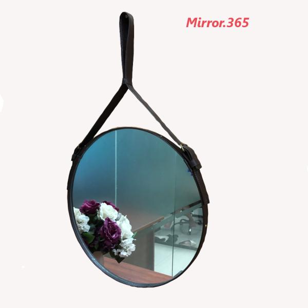 ( D40cm ) Gương tròn viền da Simili Cao Cấp giá rẻ