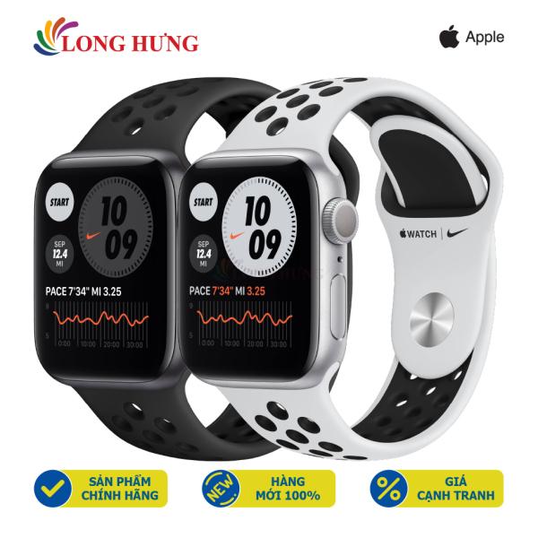 [Trả góp 0%]Đồng hồ thông minh Apple Watch Series 6 GPS Aluminum Case Nike Sport Band - Hàng chính hãng - Bộ nhớ trong 32GB Chống nước chuẩn quốc tế Gia tốc kế con quay hồi chuyển la bàn